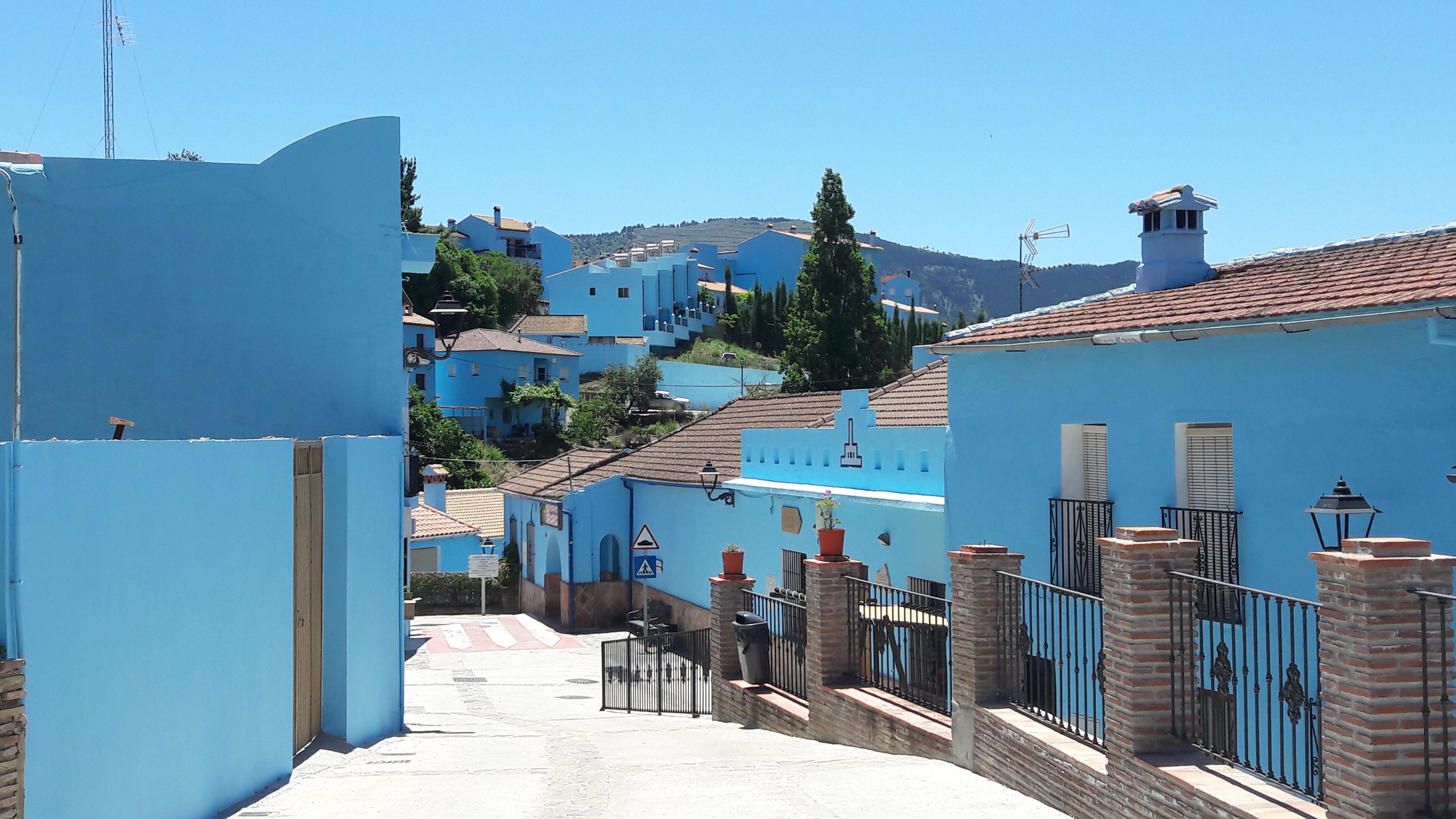 Juzcar blauw dorpje