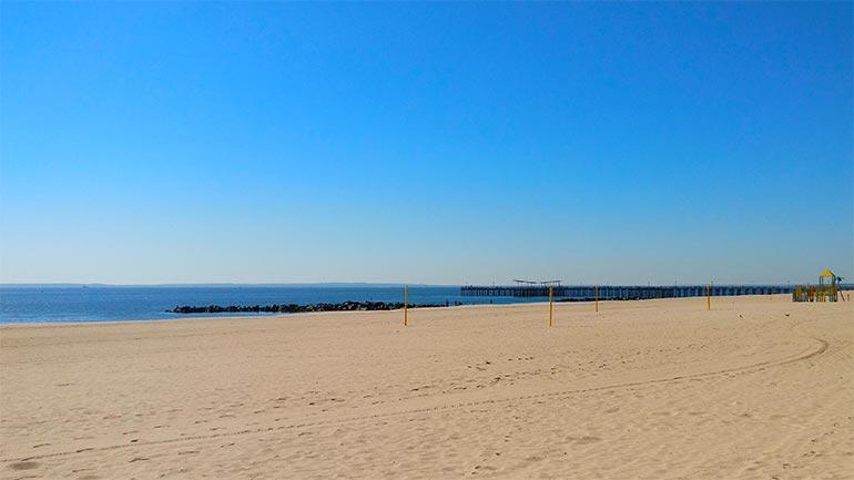 Het strand van Coney Island