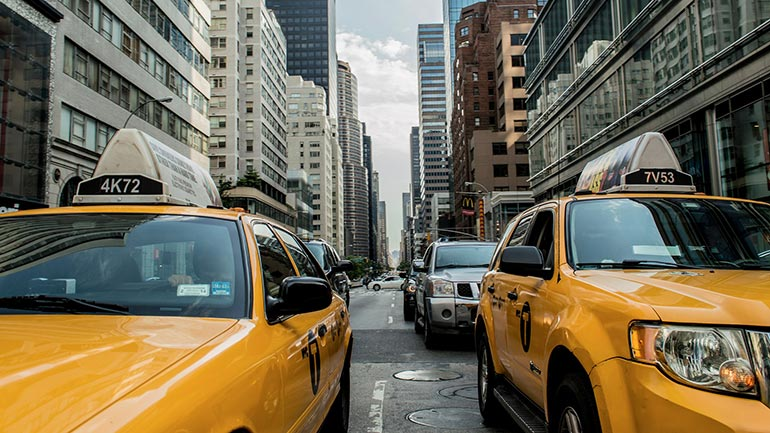Met de taxi New York City verkennen