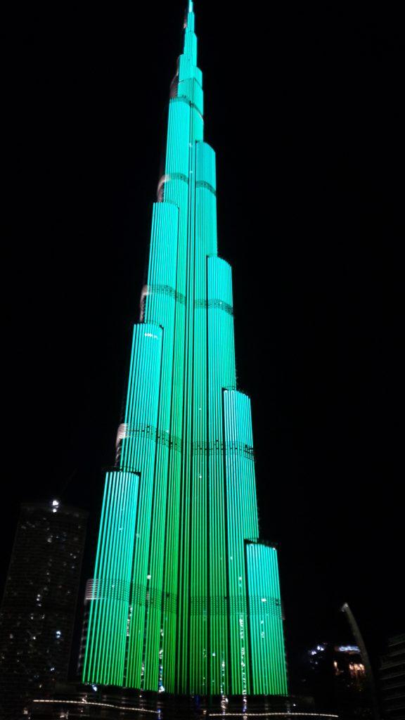 burj khalifa 's nachts