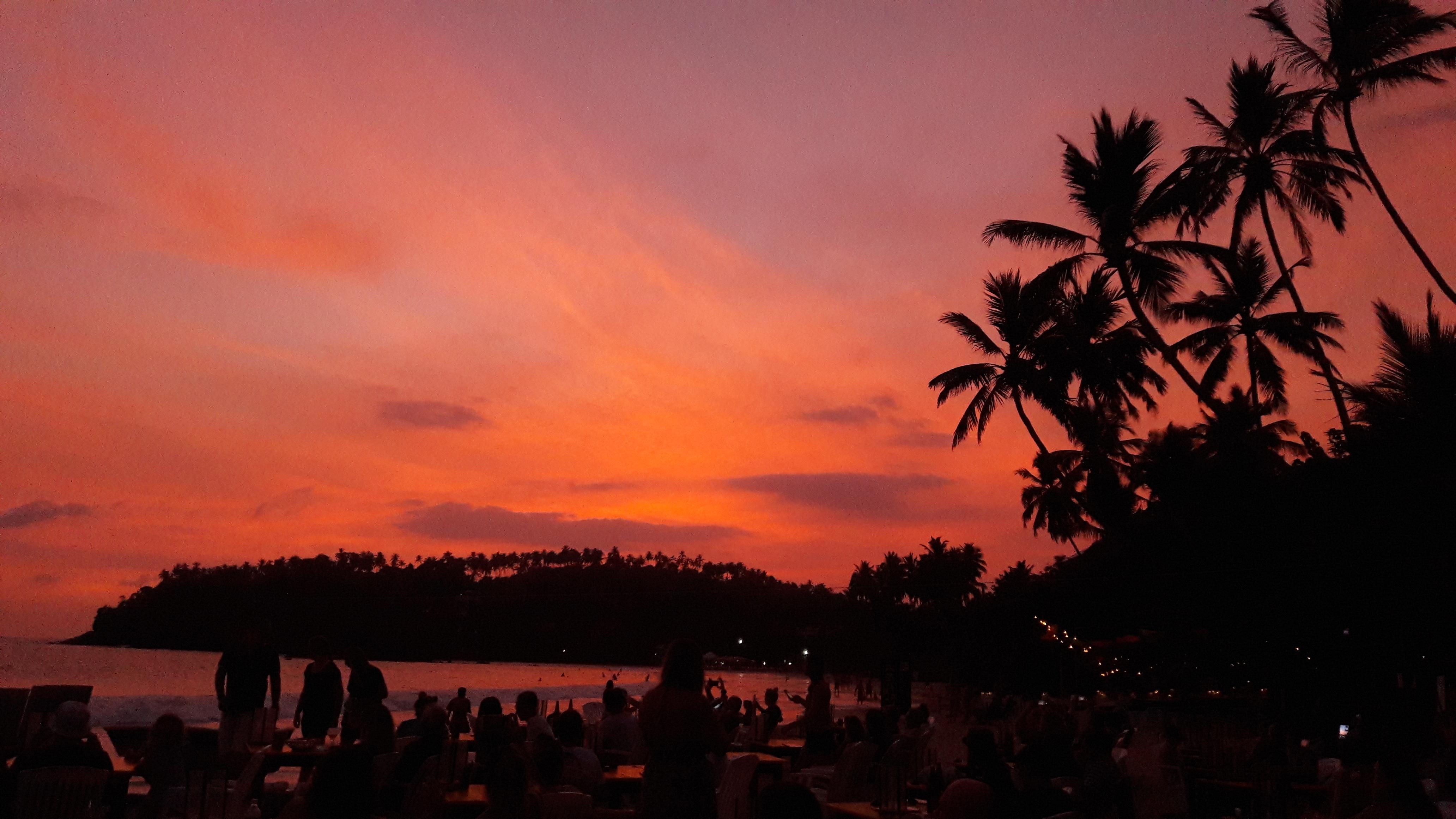 Sri Lanka ondergaande zon